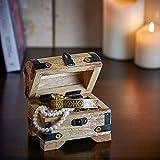 Casa Vivente Kleine Schatztruhe zum 40. Geburtstag – Schmuckkästchen mit Gravur – Aufbewahrungsbox aus hellem Holz – Verpackung für Gutscheine – Geburtstagsgeschenk für Männer und Frauen - 3