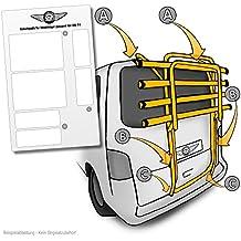 Barniz protector de pantalla apto para portabicicletas trasero Volkswagen T4Modelos (1990–2003)–Etiqueta, transparentes protectoras (5piezas) para bicicleta Portabicicletas Trasero y portabicicletas