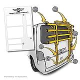 Lackschutzpads passend für Fahrradträger Modell siehe Beschreibung - selbstklebende, transparente Lackschutzfolie / Schutzpads (7teilig) für Fahrradheckträger und Heckklappenträger
