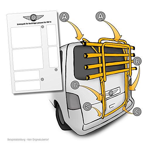 Lackschutzfolie passend für Heckträger für Original Träger siehe Beschreibung- selbstklebende, transparente Schutzpads (6teilig) für Fahrradheckträger und Fahrradträger