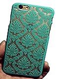 Hosaire Hülle für Apple iphone 7,Handy Schutzhülle Mode 1x Spitzenmuster Design Silikon Phone Handyhülle Shell,Grün