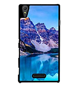 Blue Mountains 2D Hard Polycarbonate Designer Back Case Cover for Sony Xperia T3