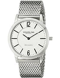 Stührling Original 122.33112 - Reloj analógico para hombre, correa de acero inoxidable, color plateado