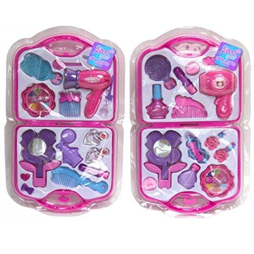 Mädchen Spielzeug Eitelkeit Beauty Kosmetiktasche Tragetasche Haartrockner Make-up Geschenk Set