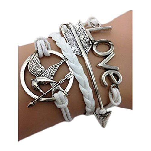Bracciale braccialetto Infinito infinity Hunger Games Love Karma moda tendenza fashion Bianco fraccia