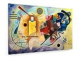 Wassily Kandinsky - Gelb - Rot - Blau - 75x50 cm - Leinwandbild auf Keilrahmen - Wand-Bild - Kunst, Gemälde, Foto, Bild auf Leinwand - Alte Meister/Museum
