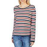 TOM TAILOR Damen Sweatshirt Sweatpullover mit ottomaner Struktur, Mehrfarbig (6593), XX-Large (Herstellergröße: XXL)