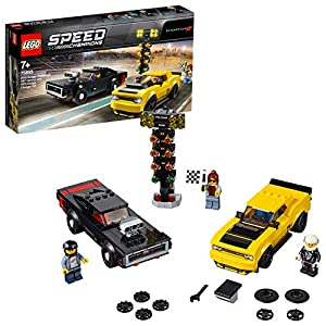 LEGO Speed Champions - 2018 Dodge Challenger SRT Demon e 1970 Dodge Charger R/T, 75893  LEGO