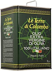 Le Terre di Colombo - Olio extravergine d'oliva 100% italiano, in tanica, 3 l