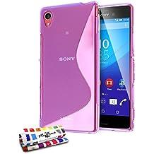 Muzzano Le S - Funda para Sony Xperia M4 Aqua, color morado
