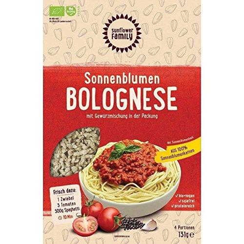 Bolognese Sauce Vegan - 100% Bio Sonnenblumenhack mit feiner italienischer Gewürzmischung - ohne Soja (4 Portionen)
