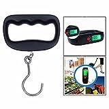 OFKPO Portable Pèse Bagage Electronique, Mini Pèse Bagage avec Crochet, Balance de Bagage Numérique avec Affichage LCD, Capteur de Haute Précision