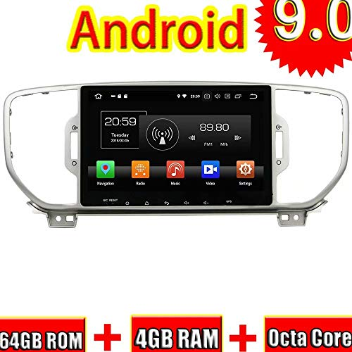 ROADYAKO Auto Navigation Für Kia Sportage 2016 2017 Android 9.0 Autoradio Stereo Mit GPS 3G WiFi Spiegel Link RDS FM AM Audio Video