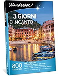 WONDERBOX - Cofanetto Regalo per Coppia- 3 Giorni D'INCANTO - 800 SOGGIORNI per 2 Persone