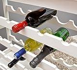 Weinregal Weiß für 24 Flaschen Flaschenregal weißes Holz Wein Regal Board - 5