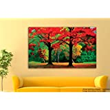 Tamatina Canvas Painting - Cherry Blossom - Modern Art Paintings - Paintings For Home Décor - Paintings For Drawing Room - Wall Paintings For Bedroom - Paintings For Living Room - Canvas Paintings For Wall - Large Size Canvas Paintings