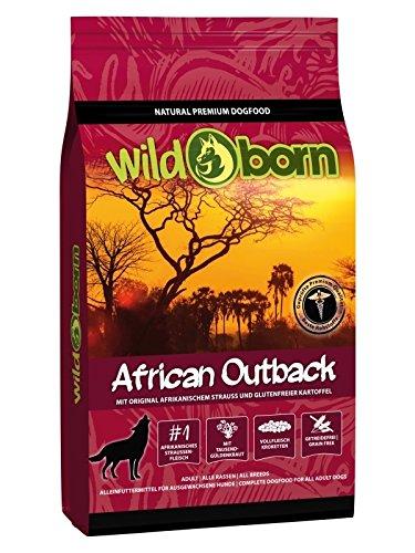Getreidefreies Hundefutter mit Straußenfleisch von Wildborn African Outback 15 kg | Gesundes Trocken-Futter mit hohem Fleisch-Anteil auch bei Allergie mit Kartoffeln ohne Mais und Weizen | Tier-Futter (Mais Leckere Mischung)
