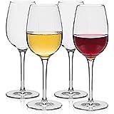 MICHLEY irrompibles copas de vino, 100% Tritan irrompibles Copas de vino tinto, libres de BPA, aptos para lavavajillas, 36 cl juego de 4