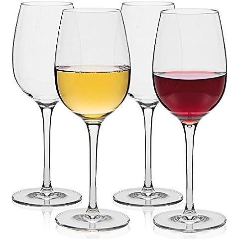 MICHLEY infrangibili Calici da vino, 100% Tritan infrangibili Calici da vino rosso, senza BPA lavabili in lavastoviglie,36 cl Confezione da 4 Pezzi