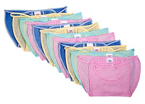 Baby Joy New Just Born Cloth Nadi Washable Reusable Cotton Diaper/Langot Nappies Mini,12 pcs ,Multicolor(0-3 Months)