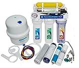 Umkehrosmose Wasserfilter 7 stufen mit Pumpe Manometer und UV Ultraviolett