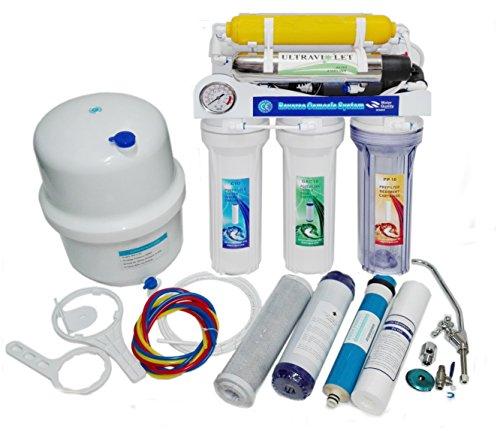 Osmosis inversa 7 etapas con bomba, manometro y ultravioleta RO-MOON