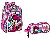 Minnie Mouse Disney Rucksack 38x32x12 Kiga Kinderrucksack+ Schlamper Etui (116)