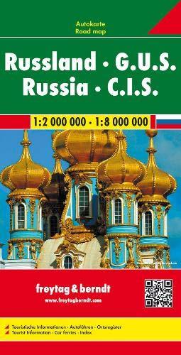 Russland-karte (Russland - G.U.S., Autokarte 1:2 Mio. - 1:8 Mio.: Wegenkaart 1:2 000 000 / 1:8 000 000 (freytag & berndt Auto + Freizeitkarten))