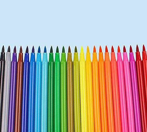 (Kinder Wasser Färbung Stifte Bulk in Portable Barrel Waschbare Marker für Jungen Mädchen Zeichnung Set 12 Colours)