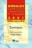 Comptabilité - DPECF, épreuve numéro 4