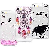 VemMore [3 Packs] iPhone 5 / 5s / SE Hülle Handyhülle Schutzhülle Transparent Ultra Slim Dünn, Soft Flexibel Silikon... preisvergleich bei billige-tabletten.eu