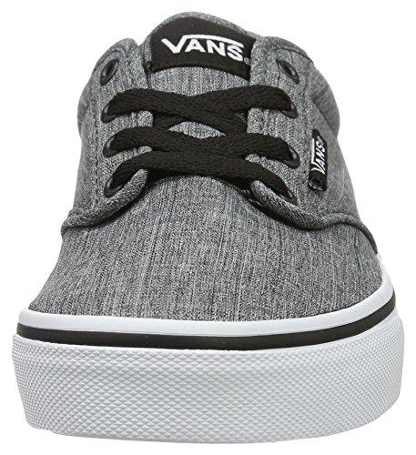 Vans Yt Atwood, Sneakers Basses Garçon Gris (Rock Textileblack/white)