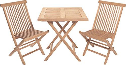Wholesaler GmbH Sitzgruppe Teak Sitzgarnitur Holz Gartenset Gartengarnitur Gartenmöbel Tisch