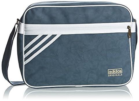 adidas Tasche Airliner Suede, Dark Onix/White Vapour S11, 12 x 38 x 28 cm, 13 Liter, M30520