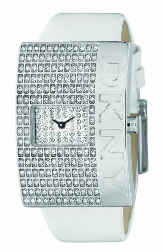 DKNY NY4316 - Reloj de cuarzo para hombre con correa de acero inoxidable, color blanco