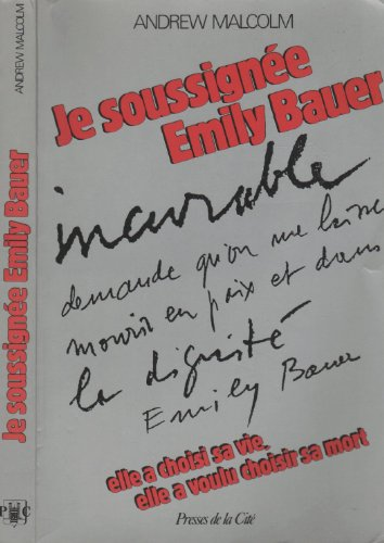 Je soussigne Emily Bauer