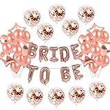 25 Stück Rose Gold Konfetti Ballon Ballon Dekoration | Latex Party Ballon Hochzeit,Geburtstag, Brautdusche, Baby-Dusche, Party Dekoration, Valentinstag, Abschlussball, Urlaub 12 Zoll 18 Zoll