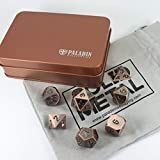 Paladin Roleplaying Solid Metal Dice Set, Antique Bronze, In Presentation Tin