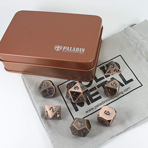 Antique Bronze Fan (Paladin Roleplaying Solid Metal Dice Set, Antique Bronze, In Presentation Tin)