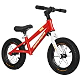 KY Vélo Enfants Balance Bike sans pédale avec Frein à Main et Cloche pour Enfants de 3 à 6 Ans, capacité de 85 kg (Blanc, 16 Pouces) (Color : Red)