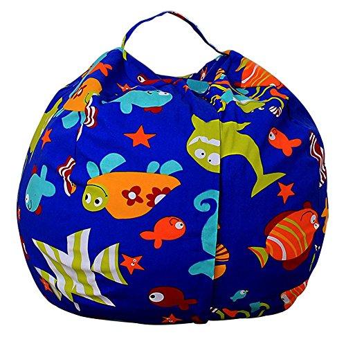 Ueb sacco portagiochi bambini organizzatore multiuso in tela porta giocattoli di peluche,vestiti contenitore per giocattoli organizzatore domestico (20 pollici)