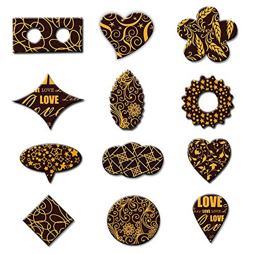Chocolate Transfer Sheet 10 Printed Different Design Mix Molds Decoration Edible Plastic Paper Popular Cake Cookie Baking Diy,10 Different Designs