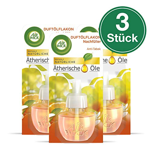 Air Wick Duftölflakon Nachfüller, Anti-Tabak, 3er Pack (3 x 19 ml)