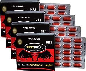 B.P.V - Bestseller Testridal 60 Kapseln = 32g - Potenzmittel - Testo Booster - Hochdosiertes Kombi-Produkt perfekt geeignet für Sportler und Aktive Männer - Für Lust - Liebe - Leidenschaft und mehr