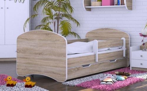 HB Kinderbett mit Matratze und Bettkasten - NEU Eiche Sonoma (160x80) -