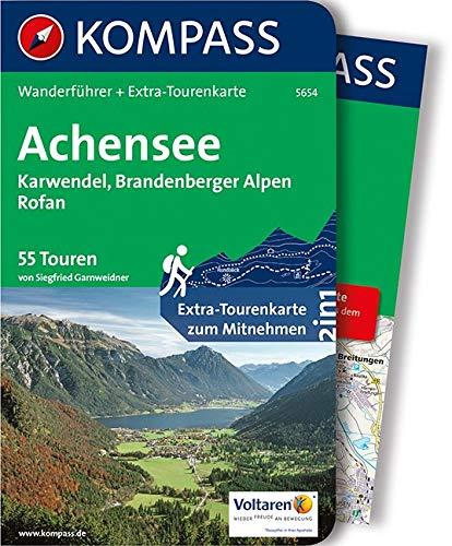 KOMPASS Wanderführer Achensee, Karwendel, Brandenberger Alpen, Rofan: Wanderführer mit Extra-Tourenkarte 1:35.000, 55 Touren, GPX-Daten zum Download: Wandelgids met overzichtskaart