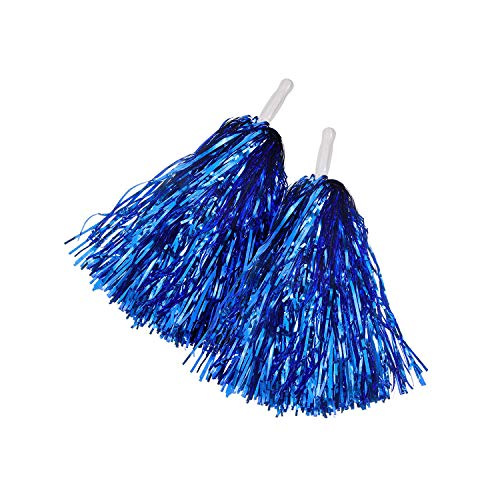 Anjing Cheerleading Kunststoff-Pompons, für Fußball/Basketball, Königsblau, 1 Paar (Königliche Paar Kostüm)