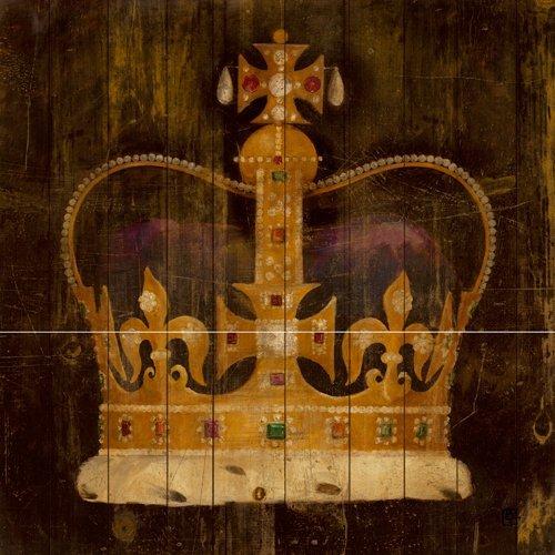 Acrylglasbild Avery Tillmon - His Majestys Crown - 90 x 90cm - Premiumqualität - Krone, Königskrone, Gold, Edelsteine, König, Majestät, Panel, Wohnzimmer, Sc.. - MADE IN GERMANY - ART-GALERIE-SHOPde