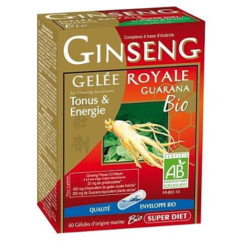 Super diet - Ginseng gelée royale guarana - 60 gélules - Tonus vitalité et résistance