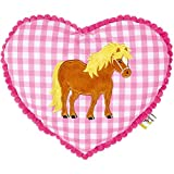 Spiegelburg 13612 Kuschelkissen Mein kleiner Ponyhof, rosa